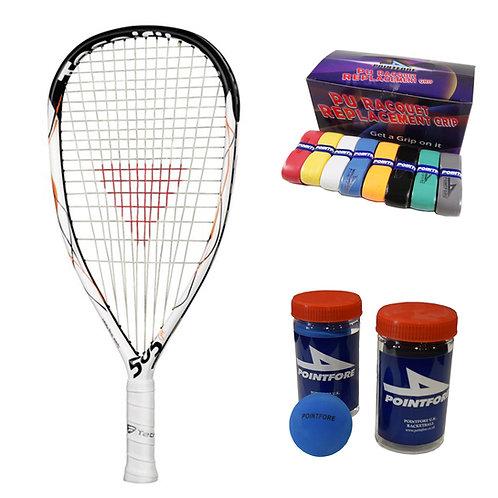 Tecnifibre 505 Fit Racket + Ball + PU Grip Bundle