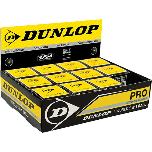 Dunlop Pro Squash Balls - Double Dot