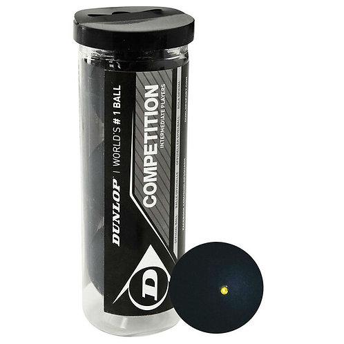 Dunlop Competiton Squash Balls Tube - Single Dot