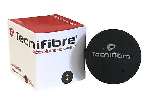 Tecnifibre Squash Balls 1 Pack - Double Dot
