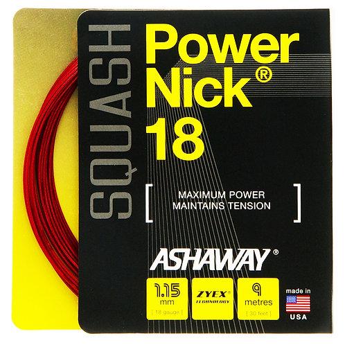 Ashaway Power Nick 18 1.15mm String + Restring Service