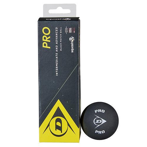 Dunlop Pro Racketball Balls -Black