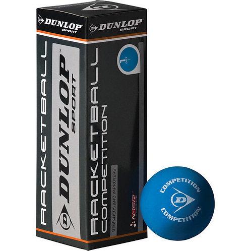 Dunlop Competition Racketball Balls -Blue