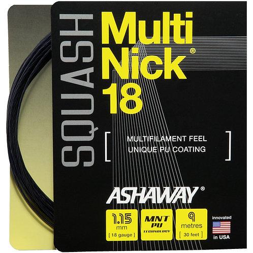 Ashaway Multi Nick 18 1.15mm String + Restring Service
