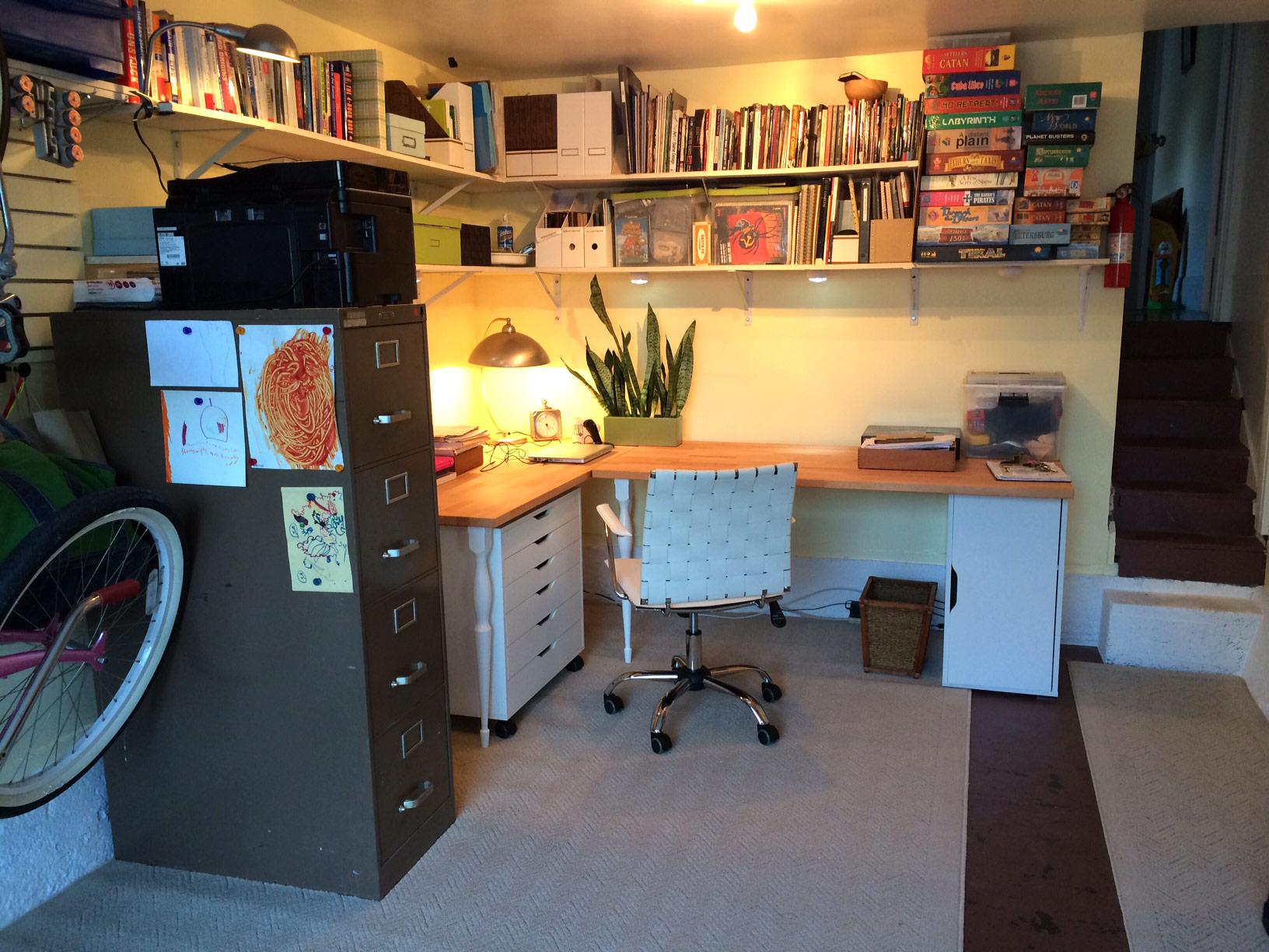 Garage office - After