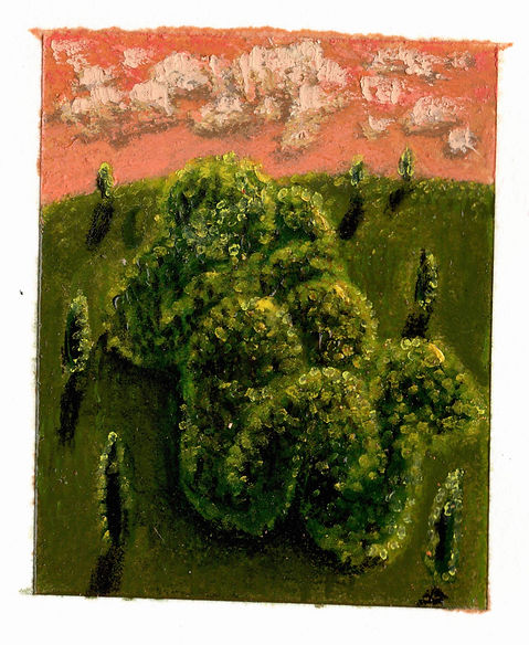 Topiary 12, Topiary 13, pastel, pencil,