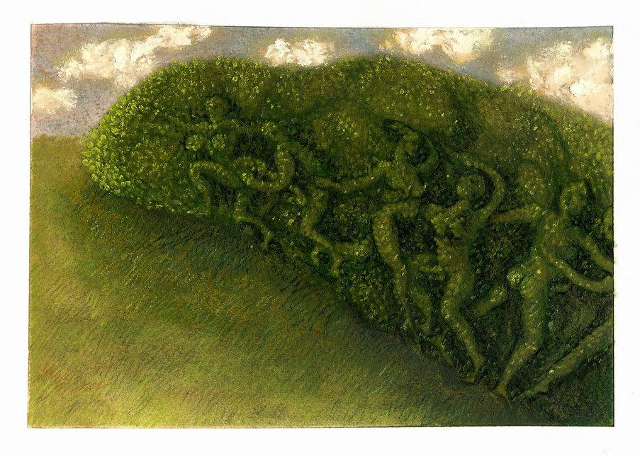 Topiary 11, 11 x 15.5cm (13.5 x 17.5 wit