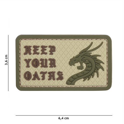 Patch 3D PVC Keep Your Oaths coyote -101 Inc