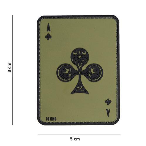 Patch 3D PVC ace of clubs vert - 101 Inc