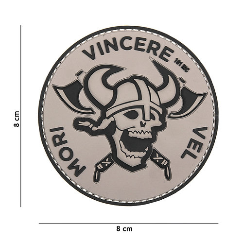 Patch 3D PVC Mori Vincere gris - 101Inc