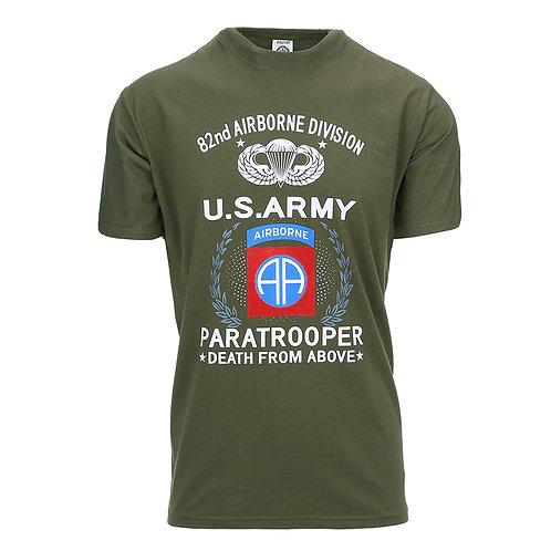 T-shirt US Army 82° Airborne parachutistes - 101 Inc