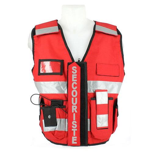 Gilet haute visibilité secouriste Rouge - VVS