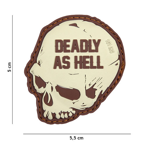 Patch 3D PVC Deadly as hell sable 101 Inc