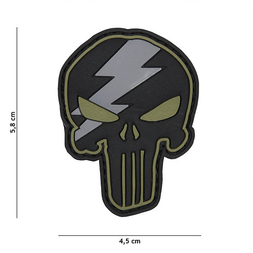 Patch 3D PVC Punisher thunder vert -101 Inc