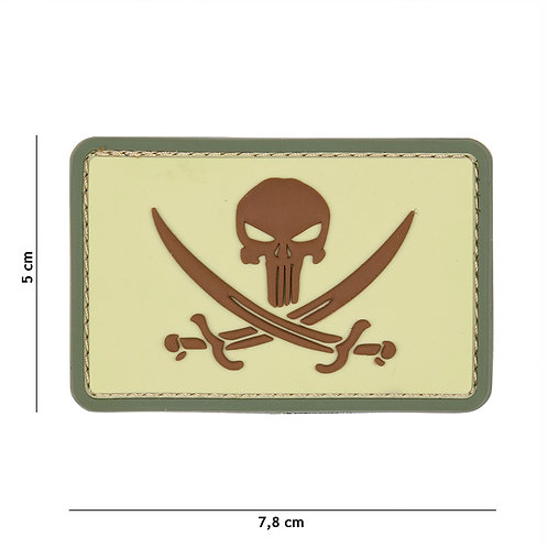 Patch 3D PVC Punisher pirate coyote -101 Inc