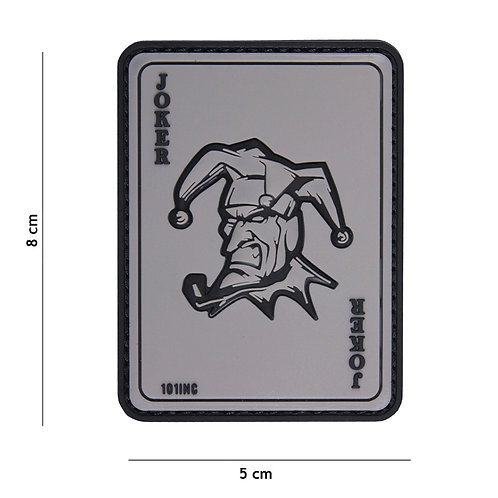Patch 3D PVC Joker gris - 101 Inc