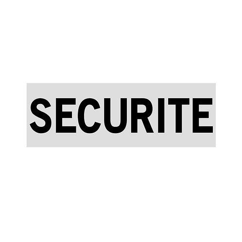 Bandeau SECURITE rétroréfléchissant