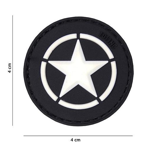 Patch 3D PVC Allied star noir