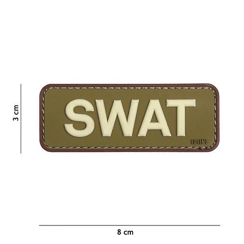 Patch 3D PVC SWAT vert/marron- 101 Inc