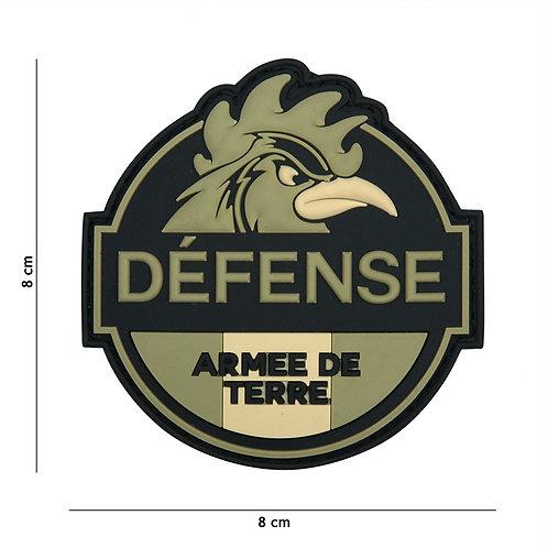 Patch 3D PVC Defense Armee de Terre vert - 101 Inc
