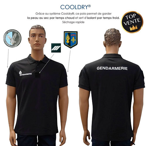 POLO GENDARMERIE COOLDRY ANTI HUMIDITE MAILLE PIQUEE-Patrol