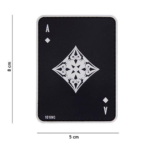 Patch 3D PVC ace of diamonds noir - 101 Inc