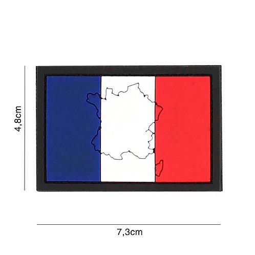 Patch 3D PVC : France avec contour - 101 Inc