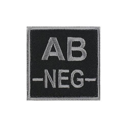 Écusson groupe sanguin AB- Gris sur Noir - DMB
