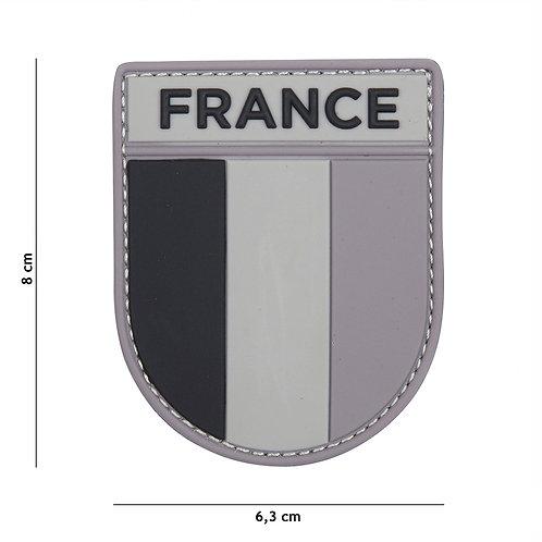 Patch 3D PVC French army gris/noir - 101 Inc
