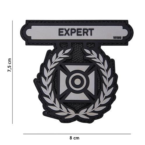 Patch 3D PVC Expert gris -101 Inc