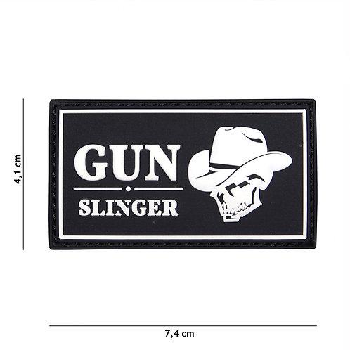 Patch 3D PVC Gun slinger skull cowboy noir - 101 Inc