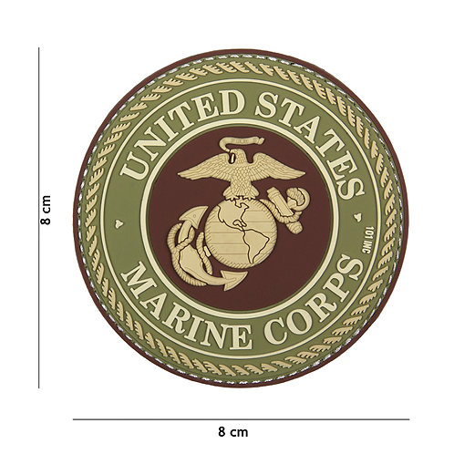 Patch 3D PVC United States Marine Corps marron - 101 Inc
