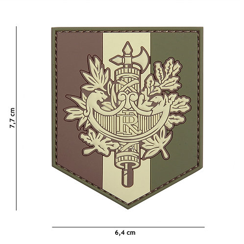 Patch 3D PVC French shield woodland - 101 inc