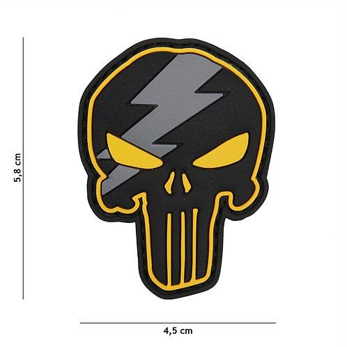 Patch 3D PVC Punisher thunder jaune -101 Inc