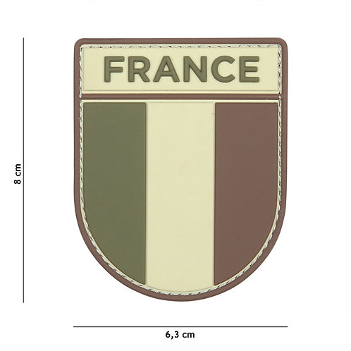 Patch 3D PVC French army multi - 101 Inc