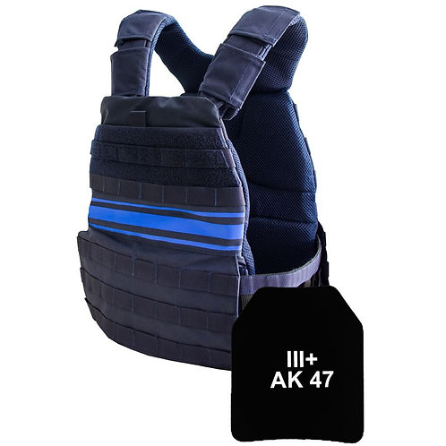 PORTE PLAQUES + PLAQUES NIJ III+AK47 POLICE MUNICIPALE - Le Pprotecteur