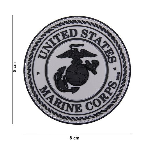 Patch 3D PVC United States Marine Corps gris - 101 Inc
