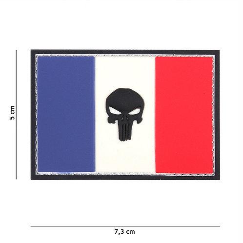 Patch 3D PVC Punisher France flag - 101 Inc