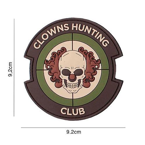 Patch 3D PVC : Clowns Hunting Club , multi camo - 101 Inc