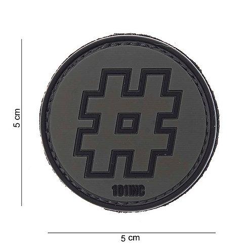 """Patch 3D PVC """" Hashtag black """" - 101 Inc"""