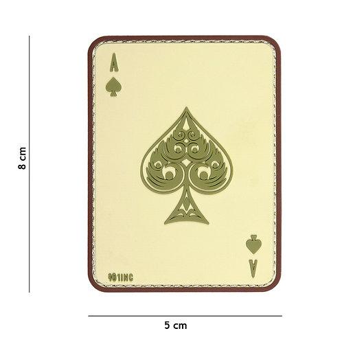 Patch 3D PVC ace of spades sable - 101 Inc