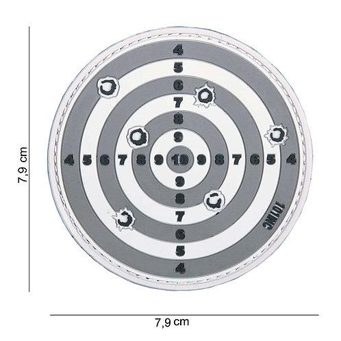 """Patch 3D PVC """" Target """" gris - 101 Inc"""
