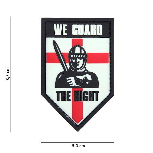 Patch 3D PVC We guard the night blanc -101Inc