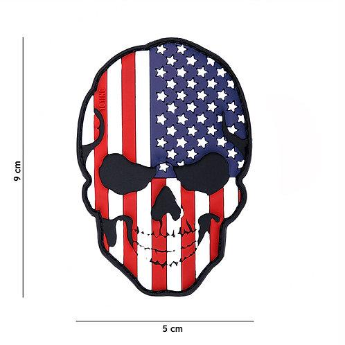 Patch 3D PVC skull USA -101 Inc