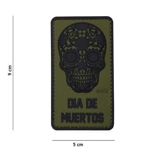 Patch 3D PVC Dia de Muertos vert -101 Inc