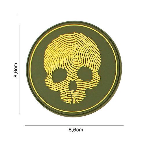 Patch 3D PVC : fingerprint skull jaune - 101 Inc