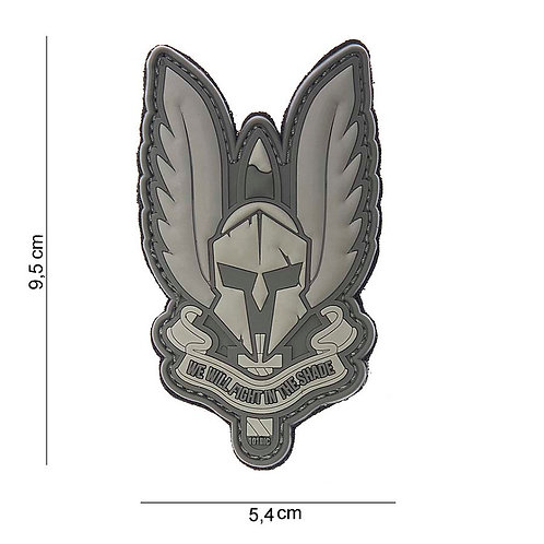 """Patch 3D PVC """" Spartan """" gris - 101 Inc"""