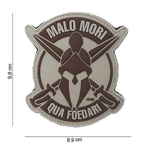"Patch 3D PVC "" Malo Mori "" gris clair - 101 Inc"