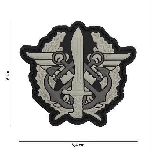 Patch 3D PVC Corps Marines loge gris -101 Inc