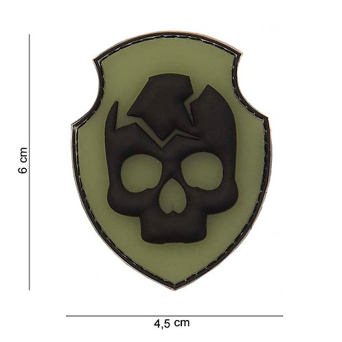 "Patch 3D PVC "" Ghost Skull "" - 101 Inc"